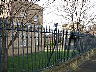 Listed railings in Queen's Road