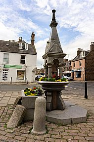 Trough and fountain in Market Square -- 05 July 2019. Photo by Martin Sim.