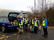 Litter picking around the Station -- 29 January 2019. Photo by Julie Lomax.