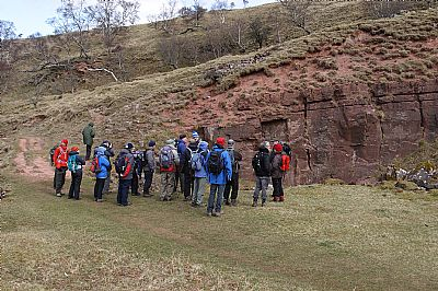 ashfell sandstone outcrop