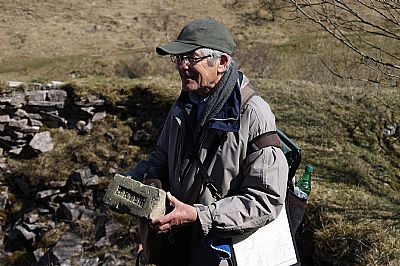 geoff with important geological specimen