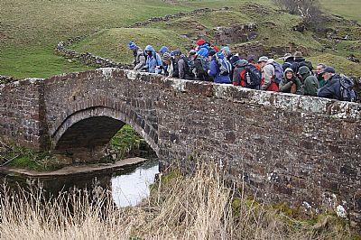 wgs members on smardale bridge