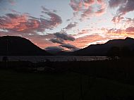 Sunrise over loch etive