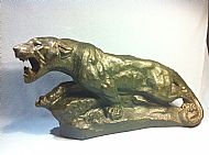 Late19th Century French bronzed  plaster lioness