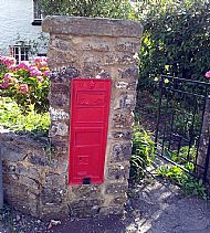 old post box, colwinston