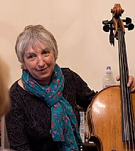 marjorie at black isle writers gig, may 2014