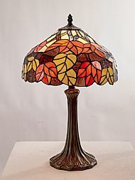 Tiffany CR15 30cm red and orange maple table lamp