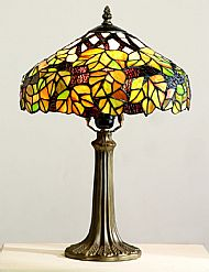 Tiffany CR20 30cm green maple table lamp