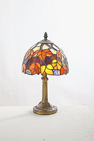 Tiffany PMCR14TL 20cm red and orange maple lamp