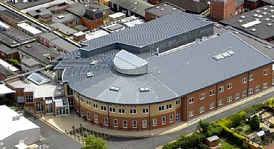 aerial view of the beacon centre at musgrove park hospital