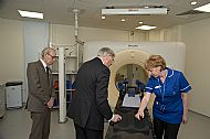 Eric shows the Duke of Gloucester the equipment provided by S.U.R.E. in 2010