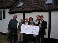 tytherleigh horse, pony & gymkhana show 2012 cheque presentation