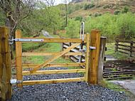 Example of horse access gate on core path
