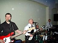 Col (left) in Steve Love Band 2004 @ Pembrooke Lodge in London