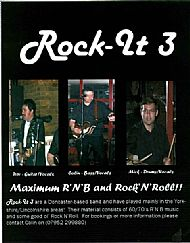 Poster for Rock-It 3, a 60's style R'N'B band I was with in early 2000's!