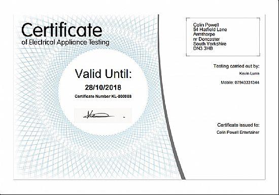 What Is Pat Test Certificate Best Design Sertificate 2018