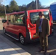 Taxi George Big red 8 seater 2 wheelchair taxi