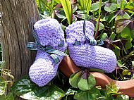 Lilac bootees