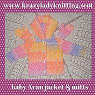 Aran jacket & mitts