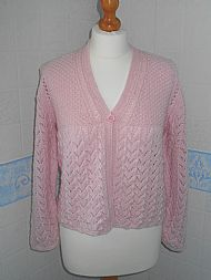 Pink Bed Jacket V Neck