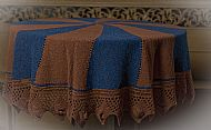 blue/brown shawl
