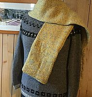 Double thick Shetland Scarf