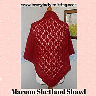 Shetland shawl - maroon