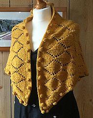Shetland shawl - chunky knit