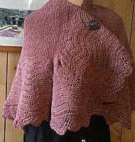 Shetland shawl - pink