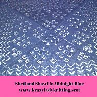 Shetland Shawl - Midnight Blue