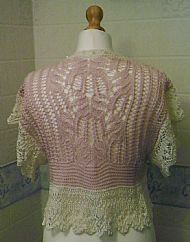 back of pink shrug