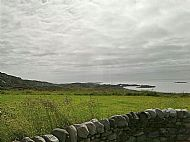 A view down into Port Mor and the Heritage Centre