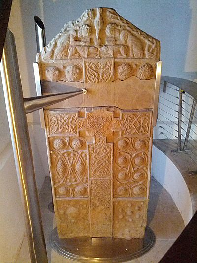 newly conserved nigg pictish cross-slab