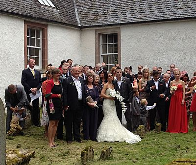 gareth and lucy's wedding at nigg old church