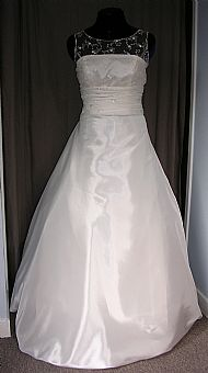 Satin & Lace wedding gown