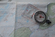 picture of a map and compass