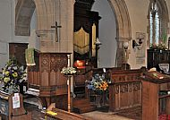 The Organ, Choir pews and the Pulpit