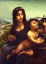 The two paintings of Leonardo da Vinci when merged together