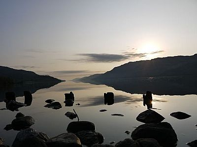 loch ness at sunrise - loch ness motorhomes