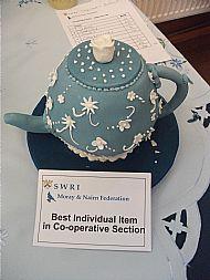 Jean's winning teapot cake