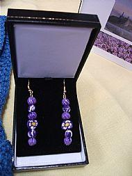Scotch rose earrings