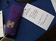 Helen's knitted felt spectacle case