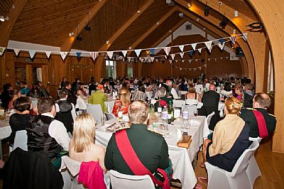 a wedding party in the main hall