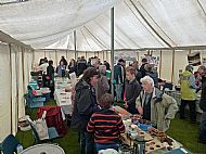 Activity in the main marquee