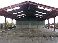 The roof goes on the new packing & bottling shed