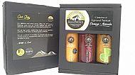 Gift Box 1 Heather Honey & Arran Wholegrain Mustard / Raspberry & Balsamic / Hebridean Seaweed & Lime