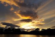 sunset, loch eye