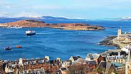 Ferry returning to Oban bay