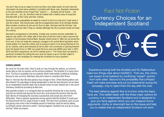 currency options for an independent scotland - side 1