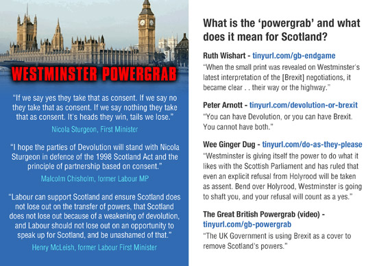 what is the westminster powergrab. useful links.